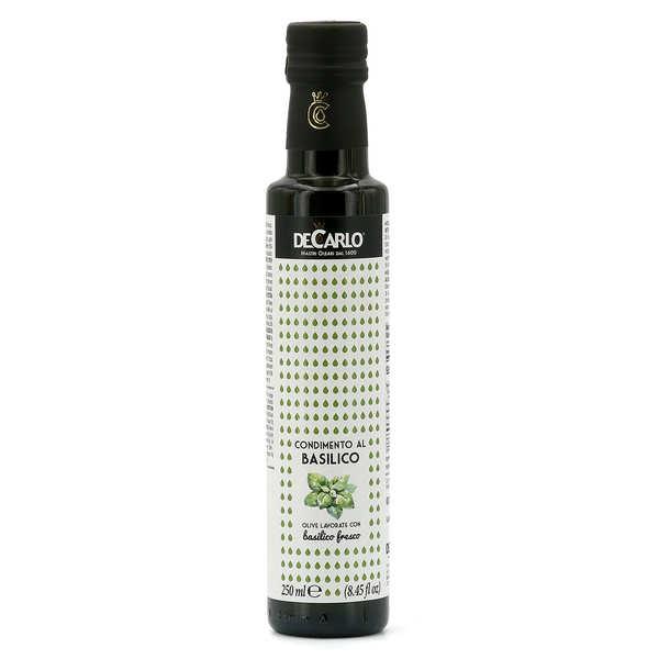 Huile d'olive extra vierge au basilic frais