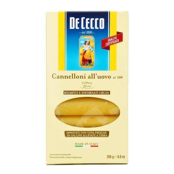 Cannelloni n°100 aux oeufs De Cecco