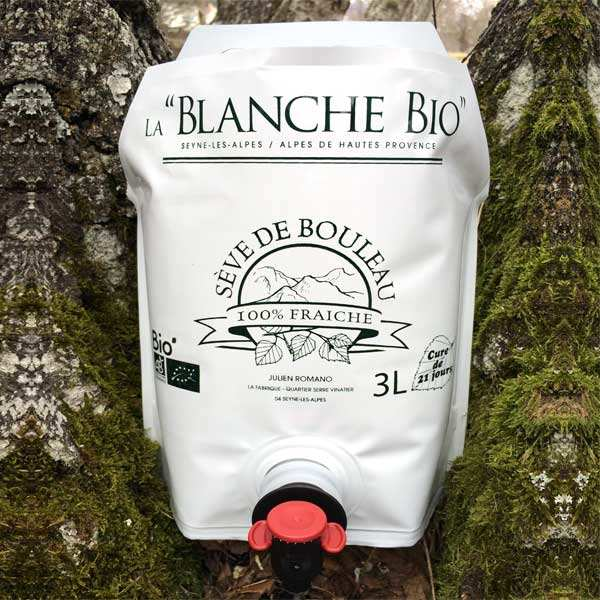 organic Fresh birch sap from Alpes de Haute Provence