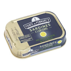 La pointe de Penmarc'h - Sardines à l'huile d'olive et au citron