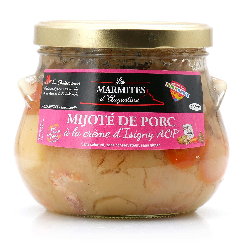 Mijoté de porc à la crème d'Isigny et au cidre de Normandie