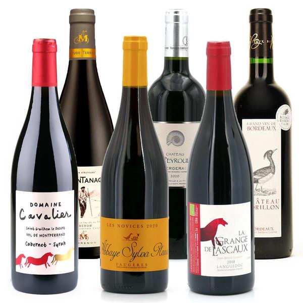Offre découverte Plaisir - 6 vins rouges bio