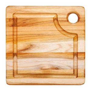 Teak Haus - Teak and Square Cutting Board with taughs - Teak Haus