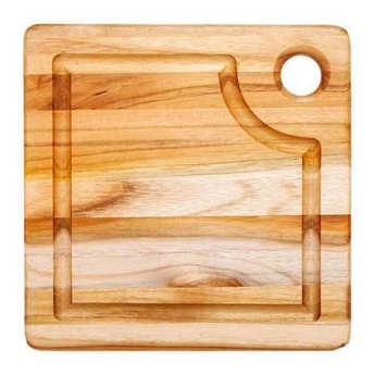 Teak Haus - Planche à découper carrée en teck avec rigole - Teak Haus