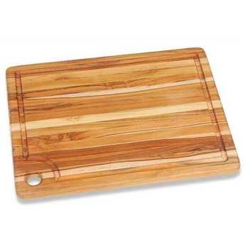 Teak Haus - Teak and Rectangular Cutting Board with Laugh  - Teak Haus