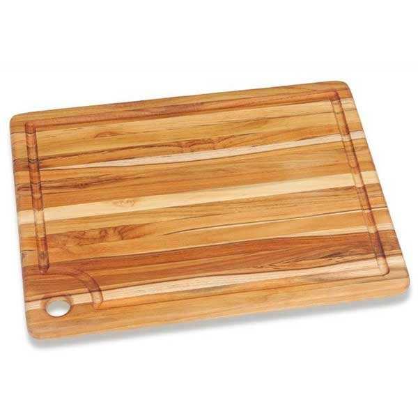 Teak and Rectangular Cutting Board with Laugh  - Teak Haus