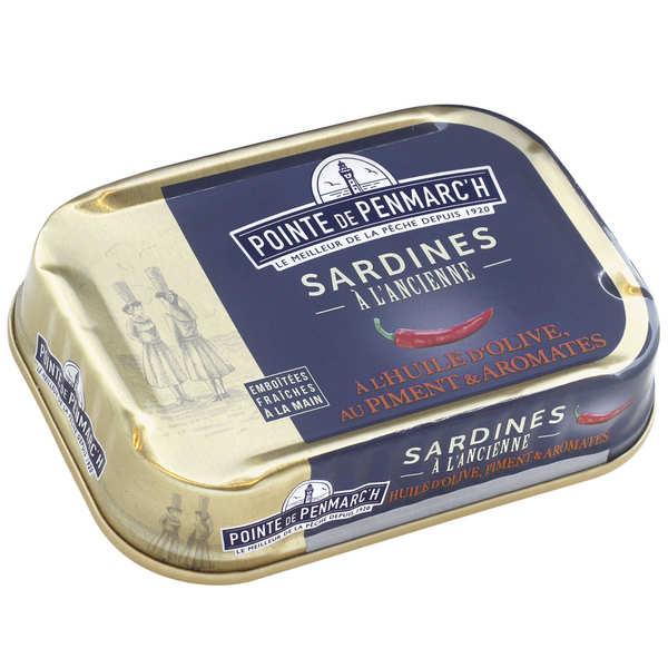 Sardines à l'huile d'olive, aux piments et aux aromates