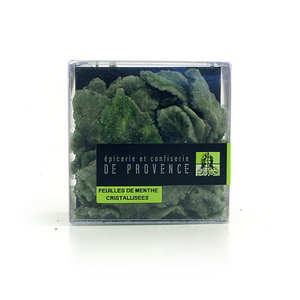 Epicerie de Provence - Feuilles de menthe cristallisées