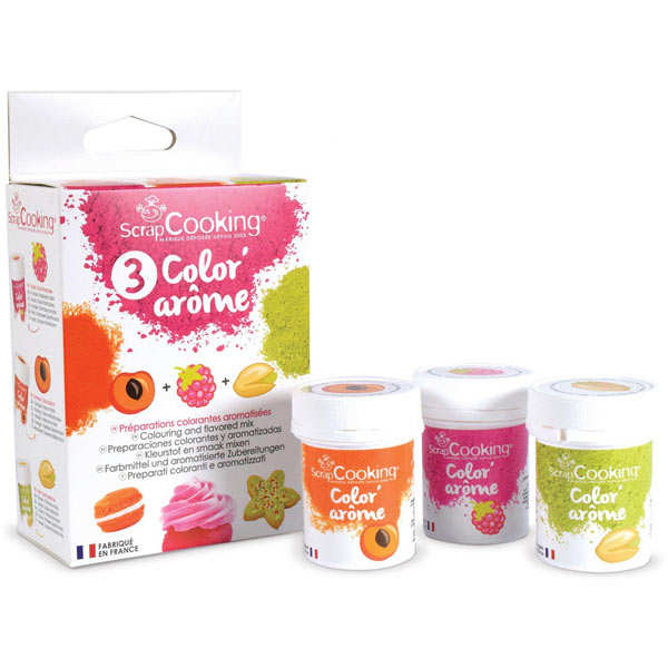 Color aroma raspberry, apricot and pistachio