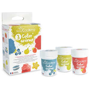 ScrapCooking ® - Color flavor strawberry, apple and blueberry