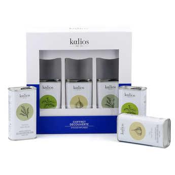 Kalios - Coffret huiles et olives de Grèce premium