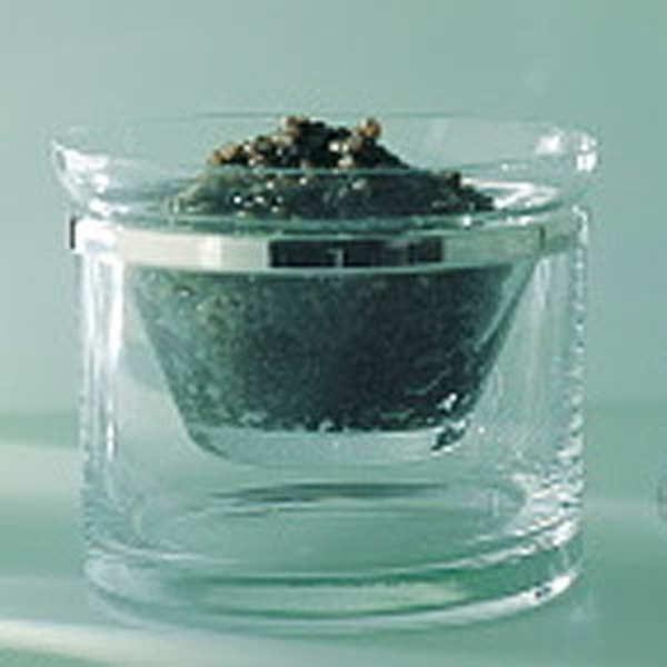 Service à caviar cerclé Ercuis