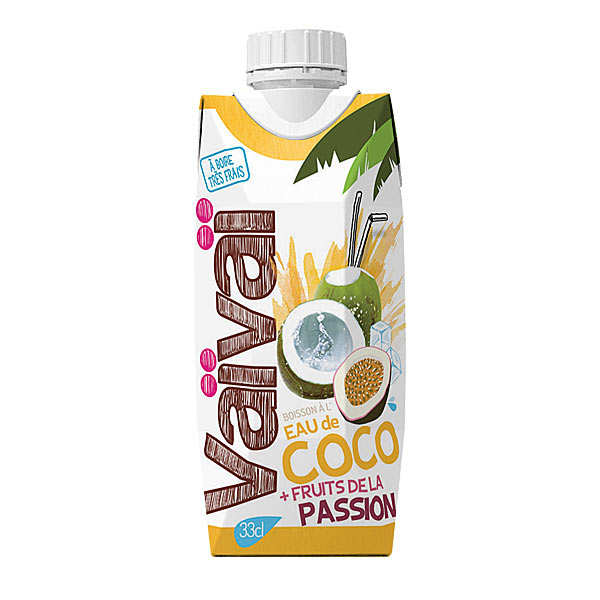 Passionfruit Vaïvaï 100% Natural Coconut Water with passionfruit