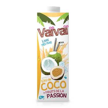 Passionfruit Vaïvaï 100%Coconut Water with passionfruit 1L
