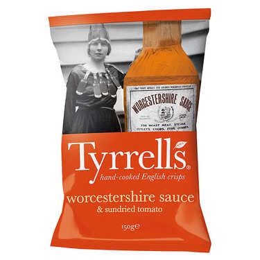 Chips sauce Worcestershire et tomates confites