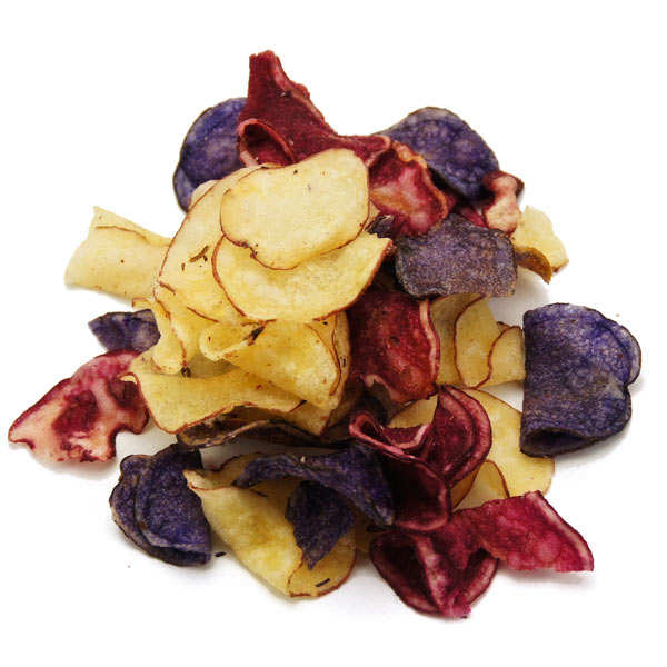 Chips bleues, blanches et rouges