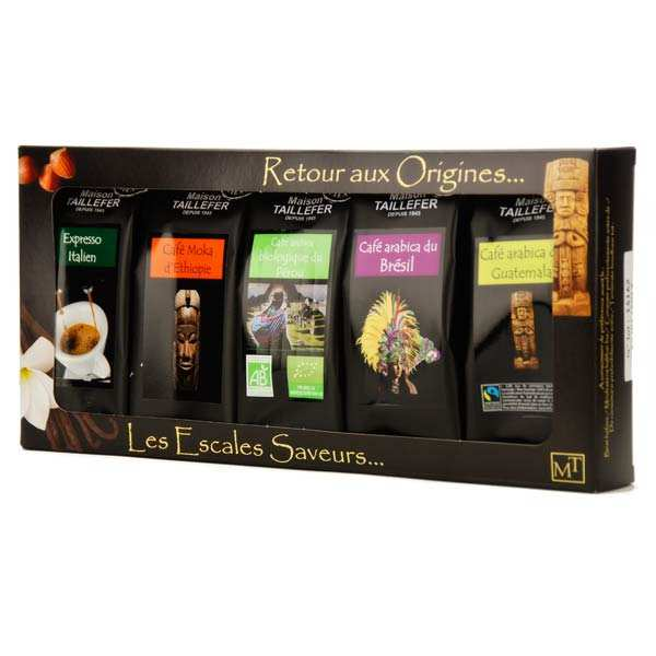 Coffret café moulu grandes origines