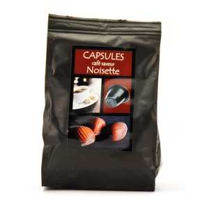Maison Taillefer - Café moka saveur noisette capsules compatibles Nespresso®