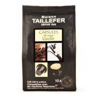 Maison Taillefer - Café moka saveur vanille capsules compatibles Nespresso®