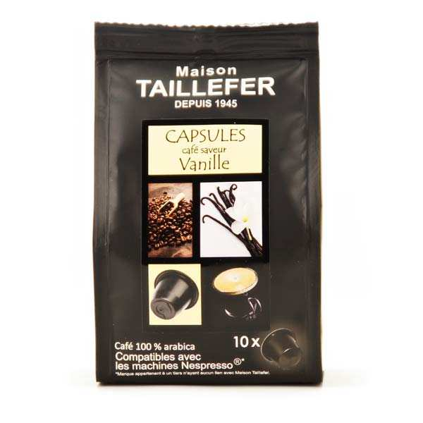 caf moka saveur vanille capsules compatibles nespresso maison taillefer. Black Bedroom Furniture Sets. Home Design Ideas