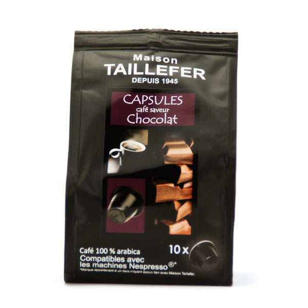 caf moka saveur chocolat capsules compatibles nespresso maison taillefer. Black Bedroom Furniture Sets. Home Design Ideas