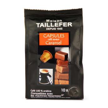 Maison Taillefer - Café moka saveur caramel capsules compatibles Nespresso®