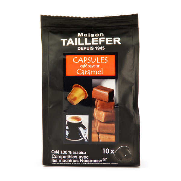 caf moka saveur caramel capsules compatibles nespresso maison taillefer. Black Bedroom Furniture Sets. Home Design Ideas