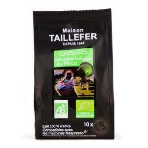 Maison Taillefer - Organic Arabica Peru Coffee Nespresso® Compatible Caps