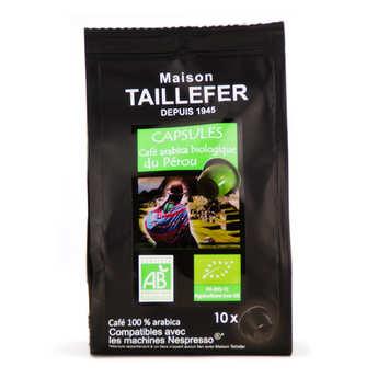 Maison Taillefer - Café arabica bio du Pérou capsules compatibles Nespresso®