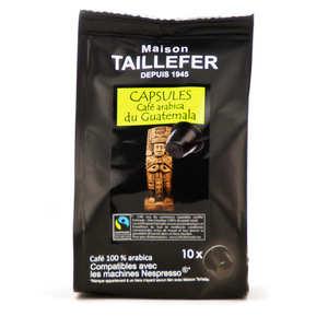 Maison Taillefer - Café arabica du Guatémala Max Havelaar capsules compatibles Nespresso®