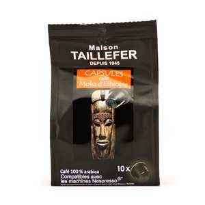 Maison Taillefer - Café Moka d'Ehiopie capsules compatibles Nespresso®