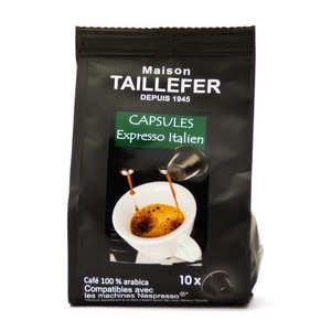Maison Taillefer - Café expresso italien capsules compatibles Nespresso®