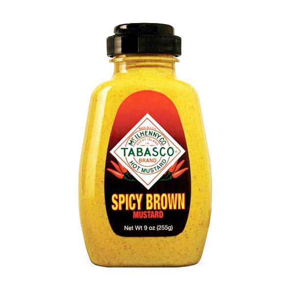 Spicy brown mustard tabasco