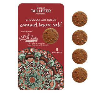 Maison Taillefer - Bouchée de chocolat au lait fourrée au caramel au beurre salé