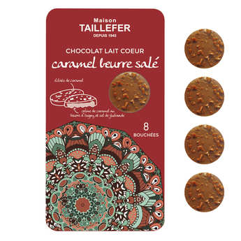 Maison Taillefer - Bouchées de chocolat au lait fourrée au caramel au beurre salé