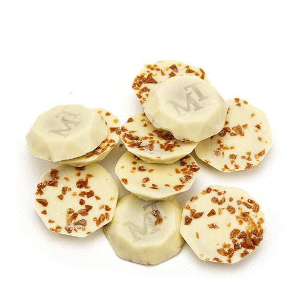 Cornet de chocolat blanc caramel au beurre salé