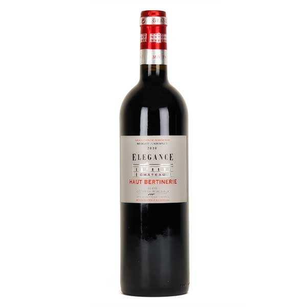 Château Haut Bertinerie Blaye Côtes de Bordeaux Elégance rouge - 14%