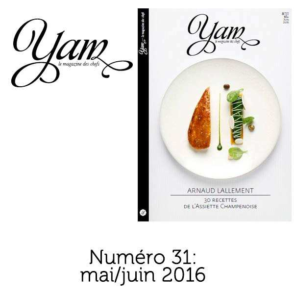 French magazine about cuisine - YAM n°31