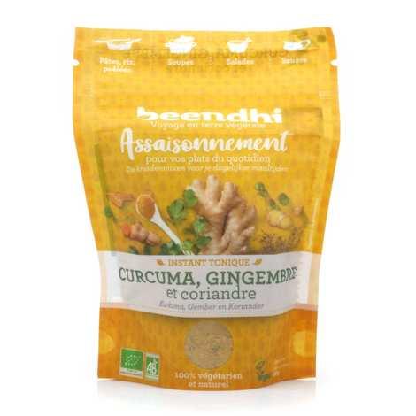 Beendhi - Assaisonnement bio 'Instant tonique' - Curcuma, gingembre, coriandre