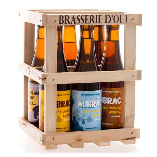 Set of 6 bottles of beer from Brasserie d' Olt