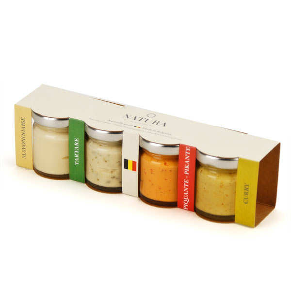 Discovery Box of 4 Sauces: Tartar, Curry, Spicy and Mayonnaise