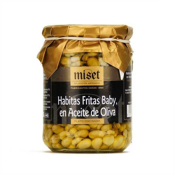 Petites fèves frites à l'huile d'olive