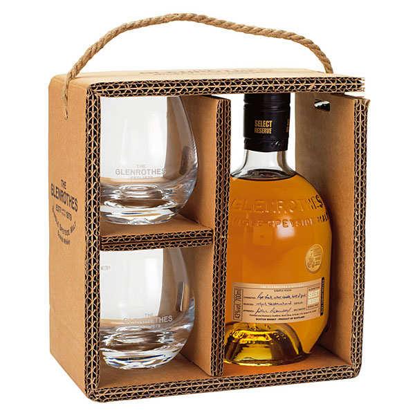 Coffret whisky Glenrothes Select Reserve - le coffret 70cl et 2 verres