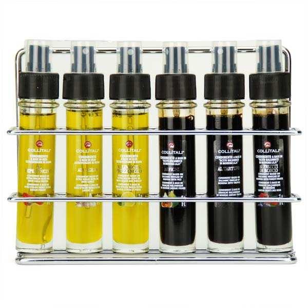 Coffret - 3 huiles d'olive et 3 vinaigres balsamiques en sprays - coffret 6 x 30ml sprays verre + présentoir