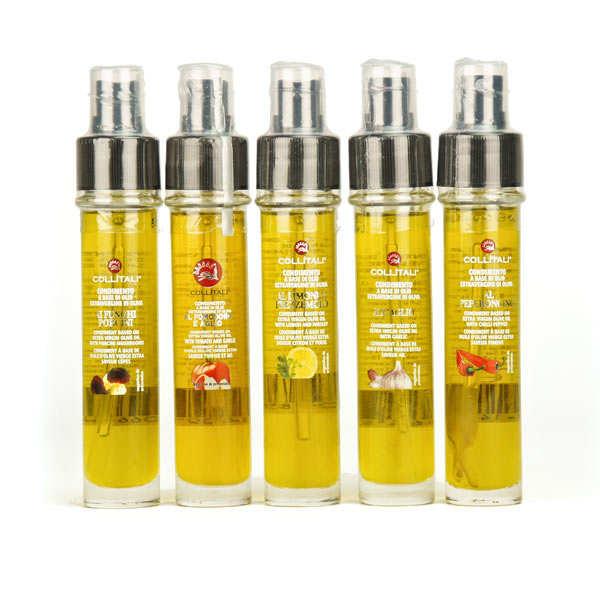Recharge et vaporisateur huile d'olive italienne (plusieurs aromatisations)