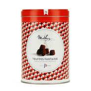 Truffes fantaisie éclats de caramel au beurre salé en boîte fer vintage