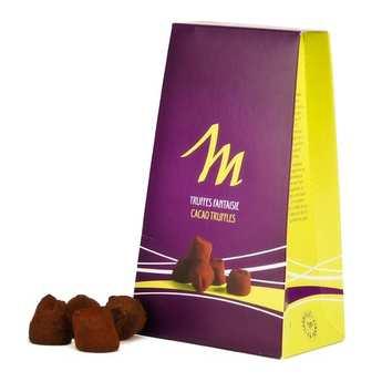 Chocolat Mathez - Truffes fantaisie chocolat pistache