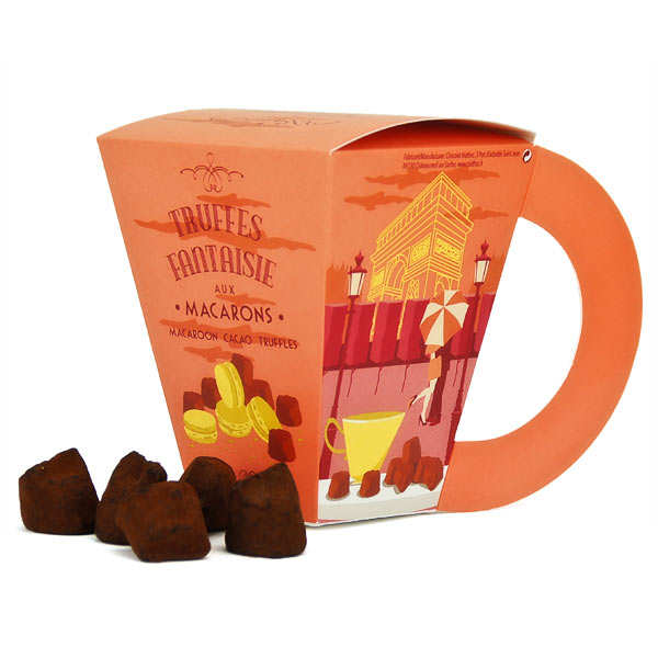 Chocolate Truffles with Mcarron Cup of Tea