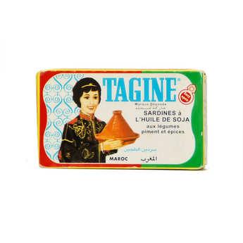 Tagine - Sardine à l'huile de soja assaisonnées aux légumes, piment et épices