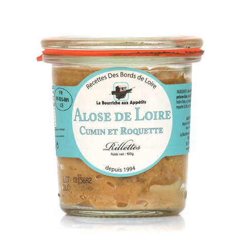 La Bourriche aux Appétits - Shad Rillettes from Loire with Rocket and Cumin